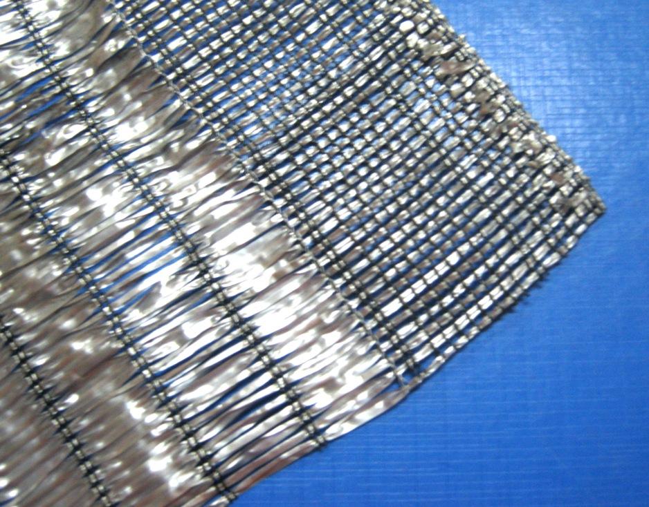 สแลนด์สีเทา-เงิน พรางแสงUV50% หน้ากว้าง 2x100 เมตร (ม้วน)