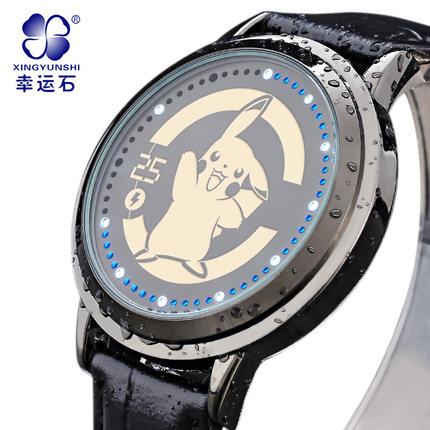 นาฬิกา LED จอสัมผัสปิกาจู Pikachu สีดำ (ของแท้ลิขสิทธิ์)