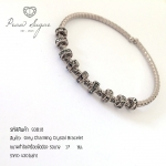 Grey Charming Crystal Bracelet