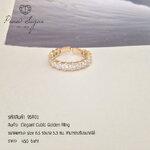 Elegant Cubic Golden Ring
