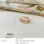 Pink Golden Modern Chain Ring