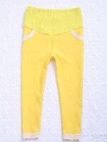 กางเกงคนท้อง ขา5ส่วน สีเหลือง เอวปรับระดับได้ ผ้ายืด ใส่สบายสุดๆค่ะ