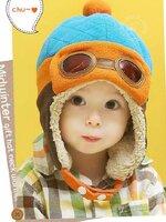 หมวกอุ่นกันหนาวกำมะหยี่ แบบปิดหูรูปการ์ตูน สำหรับเด็ก3-24เดือน หลากสี