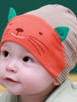 หมวกอุ่นผ้าฝ้าย สำหรับทารกแรกเกิด-1ขวบ ลายการ์ตูน มีหลากสีให้เลือกจร้า
