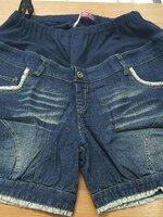 กางเกงยีนต์ขาสั้นสำหรับคนท้องใส่สบาย ปลายขามีลายโบว์น่ารัก คนท้องใส่สบายค่ะ