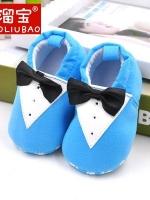 รองเท้าเด็กอ่อน 0-12เดือน รองเท้าเด็กชาย เด็กหญิง สีฟ้าทักซิโด้