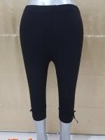 #กางเกงเลกกิ้งคนท้อง สีดำ ขา3ส่วน ผ้าเนื้อนิ่มใส่สบาย ขนาดฟรีไซส์ พร้อมสายปรับที่เอวจ้า