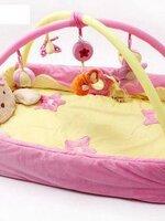 เพลยิมมาใหม่ค่ะ รุ่นน้องหมีสีชมพู สามารถติดให้เป็นรูปกล่องได้ น้องๆ นอนตรงกลางได้สบายค่ะ เนื้อผ้ารองหนาปานกลาง มีกล่องดนตรีช่วยให้เด็กๆ เพลิดเพลิน กันเลยค่ะ