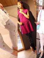 กางเกงเลกกิ้ง ขายาวสีเทา แต่งพลอย ผ้านิ่มใส่สบาย น่ารักมากๆค่ะ