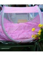 มุ้งกันยุง+ที่นอน พับเก็บได้สีชมพู น่ารักมากๆค่ะ
