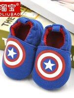 รองเท้าเด็กอ่อน 0-12เดือน รองเท้าเด็กชาย เด็กหญิง ลายการ์ตูน กัปตัน อเมริกา