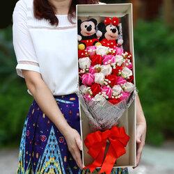 ช่อดอกไม้ตุ๊กตามิกกี้เมาส์ (มีให้เลือก 3 แบบ)