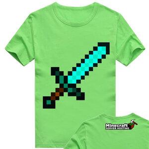 เสื้อยืดแขนสั้น minecraft