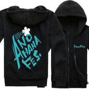 เสื้อฮู้ดกันหนาวเมนมะ (Ano hana)**สีดำ**