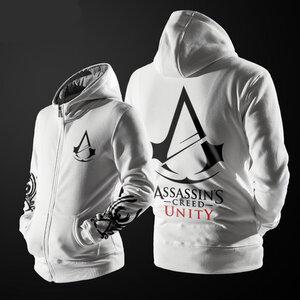 เสื้อฮู้ดกันหนาว Assassin Creed 2016 (สีขาว)