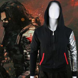 เสื้อฮู้ดกัหนาว Bucky Winter Soldier