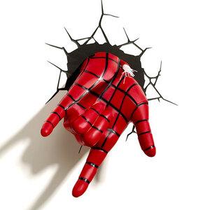โคมไฟติดผนัง 3D Spider Man ส่วนมือ (ของแท้ลิขสิทธิ์)