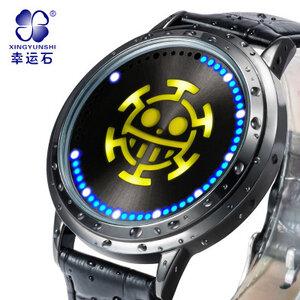 นาฬิกาข้อมือจอสัมผัส LED ONEPIECE วันพีช (สัญลักษณ์ลอว์)**ของแท้ลิขสิทธิ์**