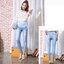 กางเกงยีนส์ขายาวสียีนส์อ่อน ทรงขาเดฟขาดๆเป็นผ้ายีนส์ฟอกยืด ผ้านิ่มใส่สบายค่ะ เอวปรับระดับได้ตามอายุครรภ์ น่ารักมากๆค่ะ thumbnail 1