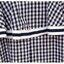 เดรสคลุมท้องเปิดไหล่ลายสก๊อตขาวดำ ท่อนบนผ้ายืดคอตตอลสีขาวเย็บต่อกับผ้าลายสก๊อต thumbnail 11
