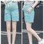 กางเกงขาสั้นพยุงท้องสีเขียว เอวมีสายรูดปรับระดับได้ตามอายุครรภ์ ผ้ายืด ใส่สบาย น่ารักมากๆค่ะ thumbnail 1
