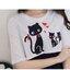 ชุดเซ็ตเสื้อเอวลอยแขนสั้นสีขาวสกรีนแมว+เดรสแขนกุดสีกรม มีซิปเปิดให้นมได้ thumbnail 7