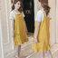 เอี้ยมคลุมท้องตัวเอี้ยมสีเหลือง สกรีนsmile house เสื้อยืดสีขาวปักโบว์ที่อก สำหรับคุณแม่ตัวเล็กน่ะค่ะ thumbnail 6