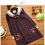 เสื้อทรงญี่ปุ่น สีกรมท่าแขนยาว ตัดเส้นลายตารางสีแดง คอบัวมีสายผูกโบว์ที่คอ น่ารักมากๆค่ะ thumbnail 8