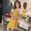 เอี้ยมคลุมท้องตัวเอี้ยมสีเหลือง สกรีนsmile house เสื้อยืดสีขาวปักโบว์ที่อก สำหรับคุณแม่ตัวเล็กน่ะค่ะ thumbnail 8
