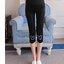 กางเกงพยุงหน้าท้อง กางเกงเลกกิ้งขา 5 ส่วน สีดำพิมพ์ลายหัวมิกกี้ที่ปลายขา น่ารักค่ะ thumbnail 4
