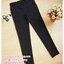 กางเกงทำงานขาเดฟสีดำ ผ้ายืดมีกระดุมดำด้าน 2 เม็ดตรงกระเป๋า ผ้านิ่มใส่สบายค่ะ เอวปรับระดับได้ตามอายุครรภ์ size XL thumbnail 2