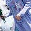 เดรสคลุมท้องแขนยาวลายเส้นสีฟ้า ปักลายกิ่งดอกไม้ กระดุมหน้าแกะได้ งานดี ผ้านิ่มใส่สบาย น่ารักมากๆค่ะ thumbnail 8