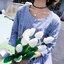 เดรสคลุมท้องแขนยาวลายเส้นสีฟ้า ปักลายกิ่งดอกไม้ กระดุมหน้าแกะได้ งานดี ผ้านิ่มใส่สบาย น่ารักมากๆค่ะ thumbnail 6