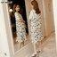 #สินค้ามาใหม่จ้า #ชุดคลุมท้องแฟชั่น Set 2ชิ้น เสื้อตัวในผ้าเนื้อนิ่มสีขาว + เดรสกระโปรงสายเดียวผ้าชีฟองผสม พิมพ์ลายดอกไม้ สีขาว ผ้าเนื้อนิ่มใส่สบายมากๆจ้า thumbnail 2