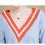 เดรสคลุมท้องสีฟ้าคอวีสีส้ม ต่อกระโปรงสีแดงบานๆ ปลายแขนลายเดียวกับกระโปรงมีสายผูกแต่งแขน น่ารักมากๆค่ะ thumbnail 8
