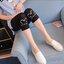 กางเกงพยุงหน้าท้อง กางเกงเลกกิ้งขา 5 ส่วน สีดำพิมพ์ลายหัวมิกกี้ที่ปลายขา น่ารักค่ะ thumbnail 7