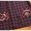 เสื้อทรงญี่ปุ่น สีกรมท่าแขนยาว ตัดเส้นลายตารางสีแดง คอบัวมีสายผูกโบว์ที่คอ น่ารักมากๆค่ะ thumbnail 4