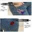 กางเกงคนท้องยีนส์ยืดขายาว ปักลายหัวใจที่กระเป๋าด้านหน้า ด้านหลังปักลายปากแดง ปรับเอวได้ size L, XL, XXL thumbnail 3