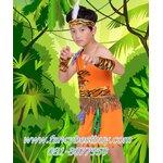 ชุดแฟนซีเด็ก ชุดทาร์ซาน ชุดคนป่า ชุดชนเผ่าพื้นเมือง ชุดมนุษย์ยุคหิน มีขนาด 110, 120, 130, 140, 150 (คู่กับชุดเด็กหญิง FG38002)
