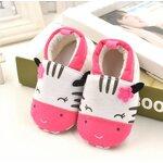 รองเท้าเด็กชาย เด็กหญิง สีขาวชมพูลายวัวน้อย size 11 cm
