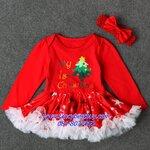 """ชุดคริสมาสเด็กเล็กและเด็กทารก """"My first christmas"""" สำหรับ เทศกาลวันคริสมาส มีขนาด 80"""