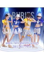 ชุดแฟนซีเด็ก ชุดนักเต้น ชุดเชียร์ลีดเดอร์ ชุดกีฬาสี สำหรับ เด็กชาย เด็กหญิง มีขนาด 110, 120, 130