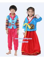 ชุดประจำชาติเกาหลี ชุดคู่เด็กชายและเด็กหญิง มี ขนาด 100, 110, 120, 130