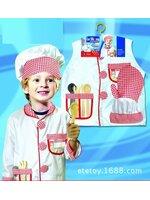 ชุดพ่อครัว ชุดแม่ครัว ชุดเชฟ ชุดChef สีขาว ใช้ได้ทั้งเด็กชายและเด็กหญิง (เสื้อสีขาว+หมวก+อุปกรณ์ 5 ชิ้น ) ขนาดฟรีไซด์ สำหรับเด็ก 90-125 ซม. อายุ 3-7 ขวบ