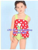 ชุดว่ายน้ำเด็กหญิง แบบชิ้นเดียว มีขนาด L, XL