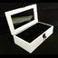กล่องใส่นาฬิก่งานไม้สนทำสีขาว ภายในบุกำมะหยี่สีดำ มีกุญแจล็อก (มีสินค้าพร้อมส่ง) จัดส่งฟรี thumbnail 5