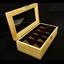 กล่องใส่นาฬิกางานไม้สน บุสีน้ำตาล มีกุญแจล็อกสีเงิน (สินค้าพร้อมส่ง) จัดส่งฟรี thumbnail 2