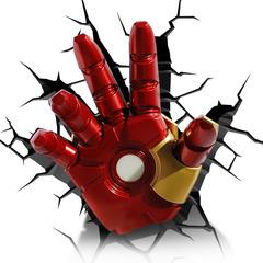 โคมไฟติดผนัง 3D มือรอนแมน Ironman (ลิขสิทธิ์แท้)