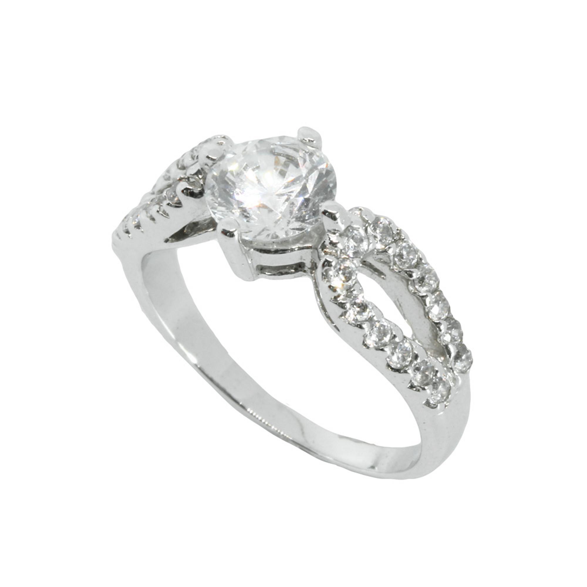 แหวนเพชรCZ หุ้มทองคำขาวแท้ ไซส์ 52
