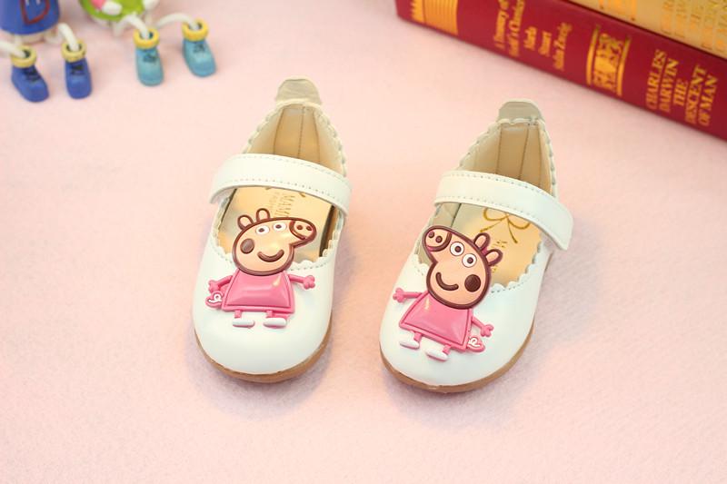 รองเท้าเด็กอ่อน 0-12เดือน รองเท้าเด็กชาย เด็กหญิง สีขาว Peppa Pig